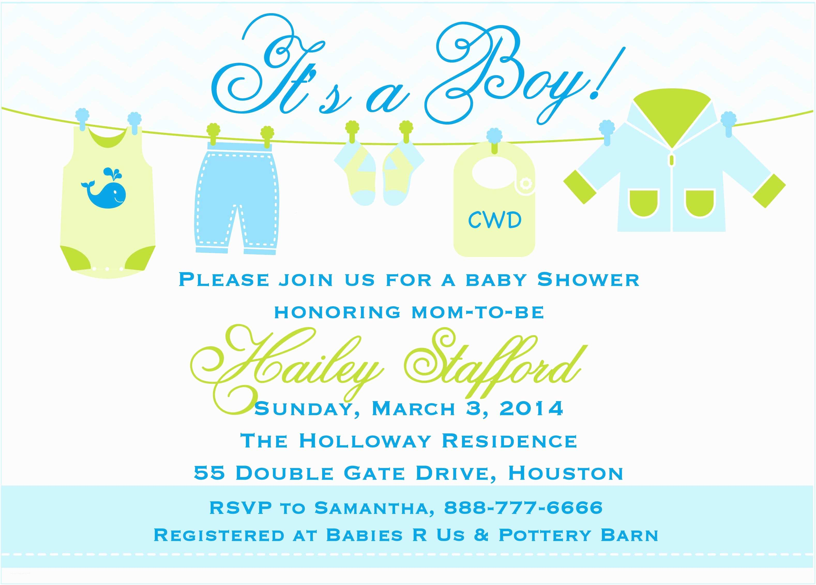 baby shower invitation templates for word