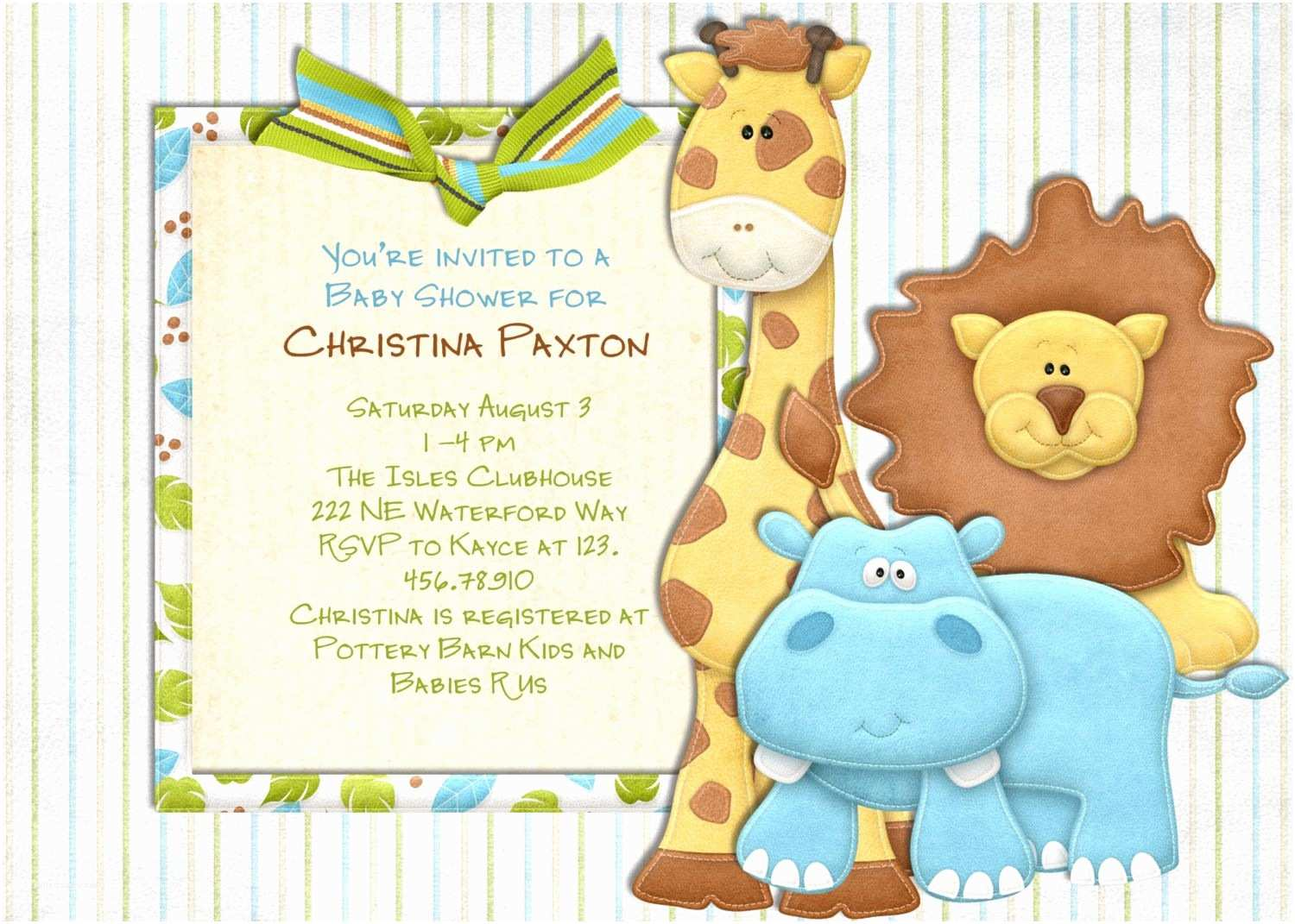 Boy Baby Shower Invites Jungle Baby Shower Invitations Template Mn3qmvlk