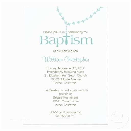 Boy Baptism Invitations Rosary Beads Baptism Invitation for Boy