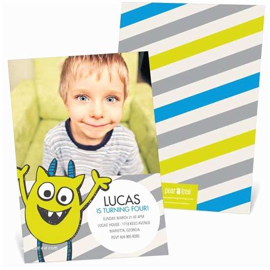 Boy Birthday Invitations Boy Birthday Invitations Custom Designs From Pear Tree