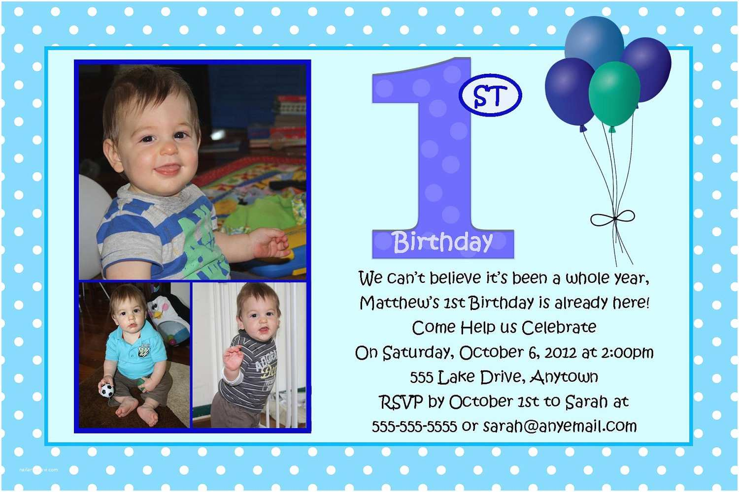 Boy Birthday Invitations First Birthday Blue Boy Birthday Invitation You Print