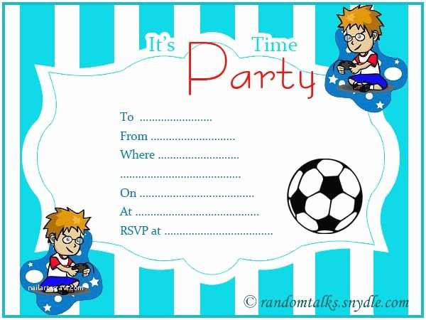 Boy Birthday Invitations Free Printable Birthday Invitations Random Talks