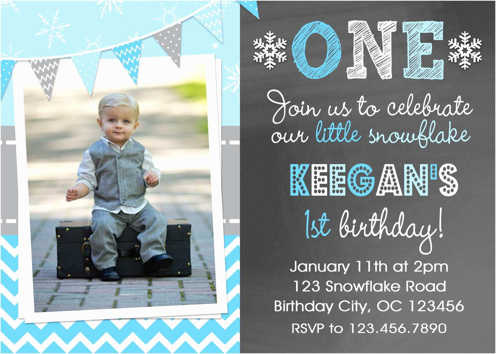 Boy Birthday Invitations Printable Birthday Invitations Little Boys Winter