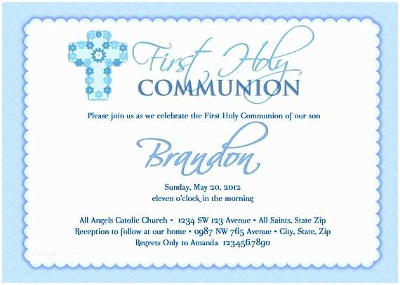 Boy Communion Invitations Boy S First Munion Invitations Munion Invitations