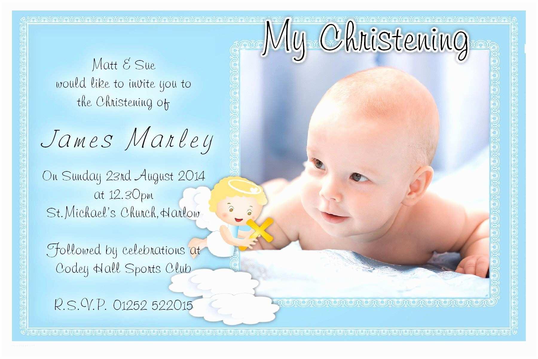 Boy Communion Invitations Free Christening Invitation Template