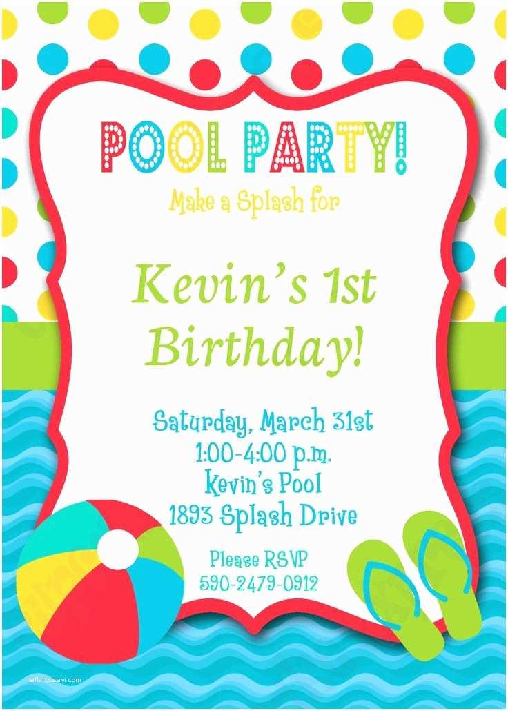 Boys Birthday Invitations Free Printable Boy Pool Party Invitation Orderecigsjuice