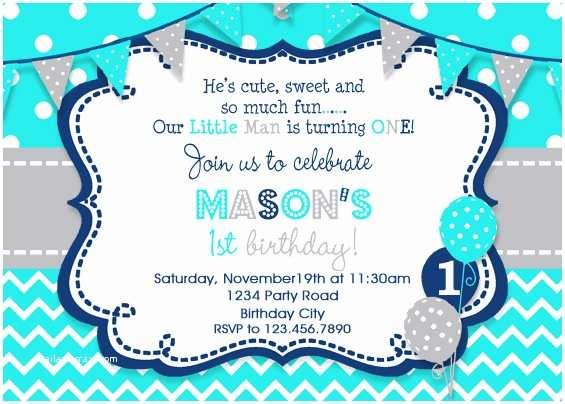 Boys Birthday Party Invitations Boys Birthday Invitation Boys Party Invitation