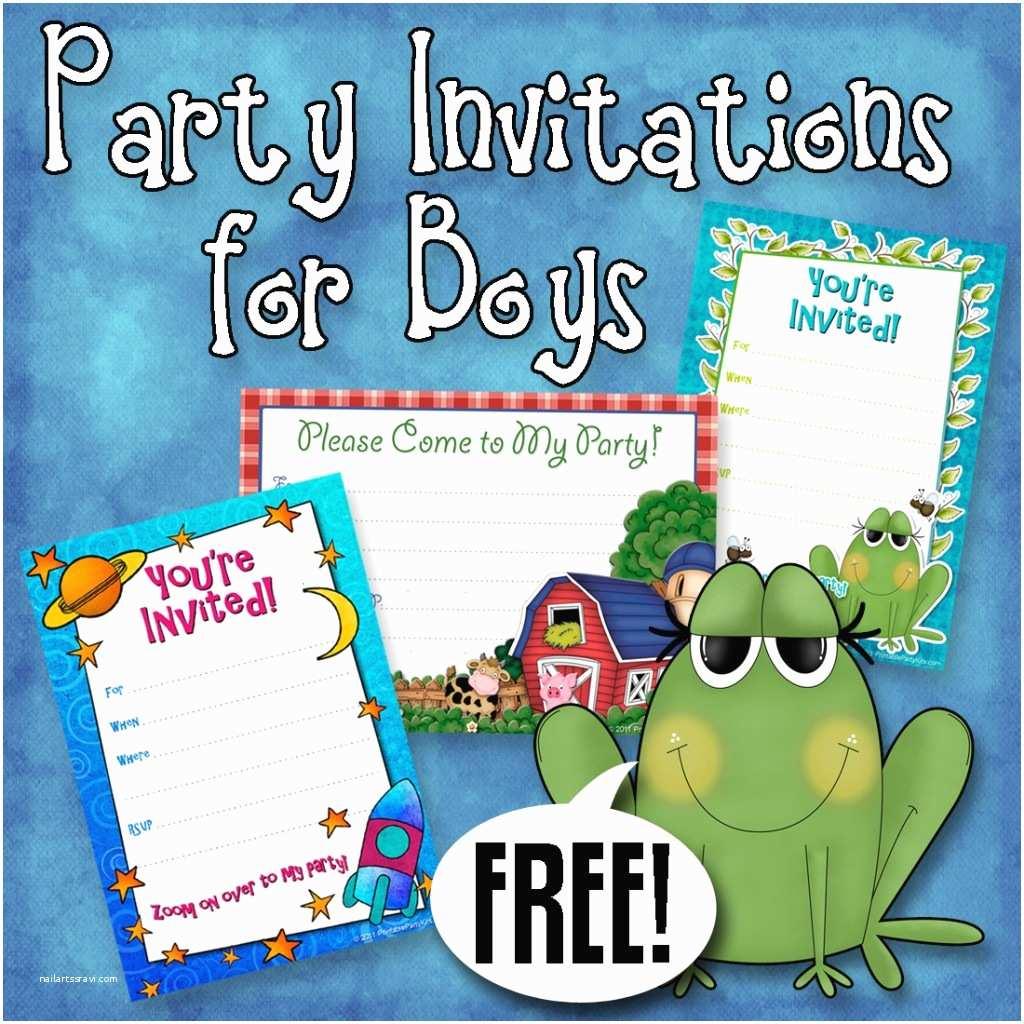 Boys Birthday Party Invitations F1024