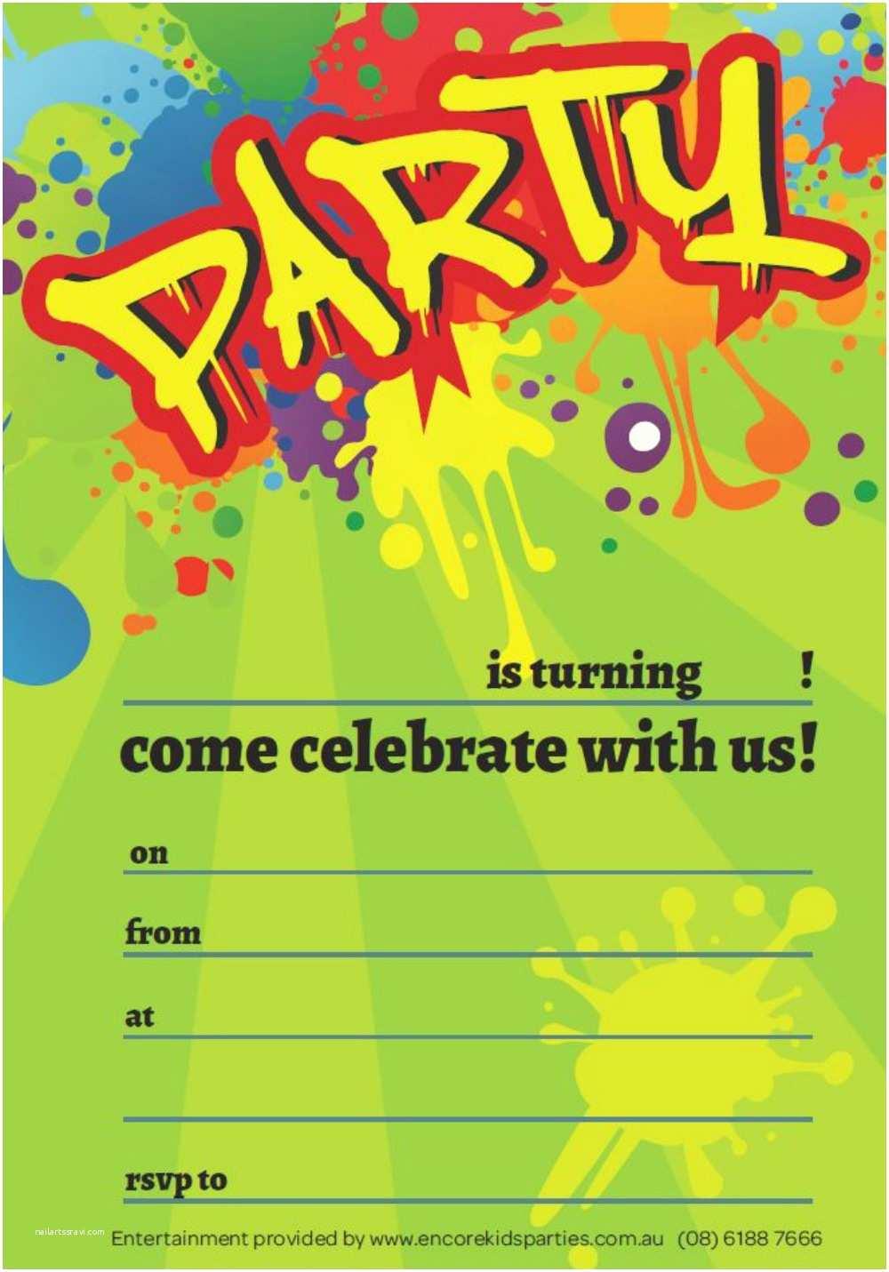 Boys Birthday Party Invitations Free Boy Party Invitations