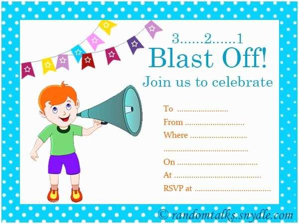 Boys Birthday Party Invitations Free Printable Birthday Invitations Random Talks