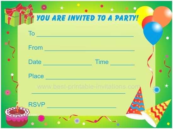 Boys Birthday Party Invitations Free Printable For
