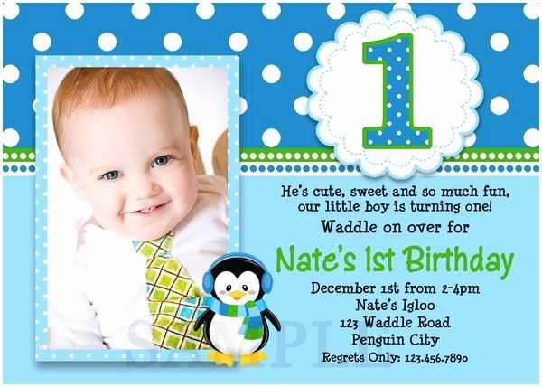 Boys Birthday Party Invitations Printable Birthday Invitations Little Boys Penguin Party
