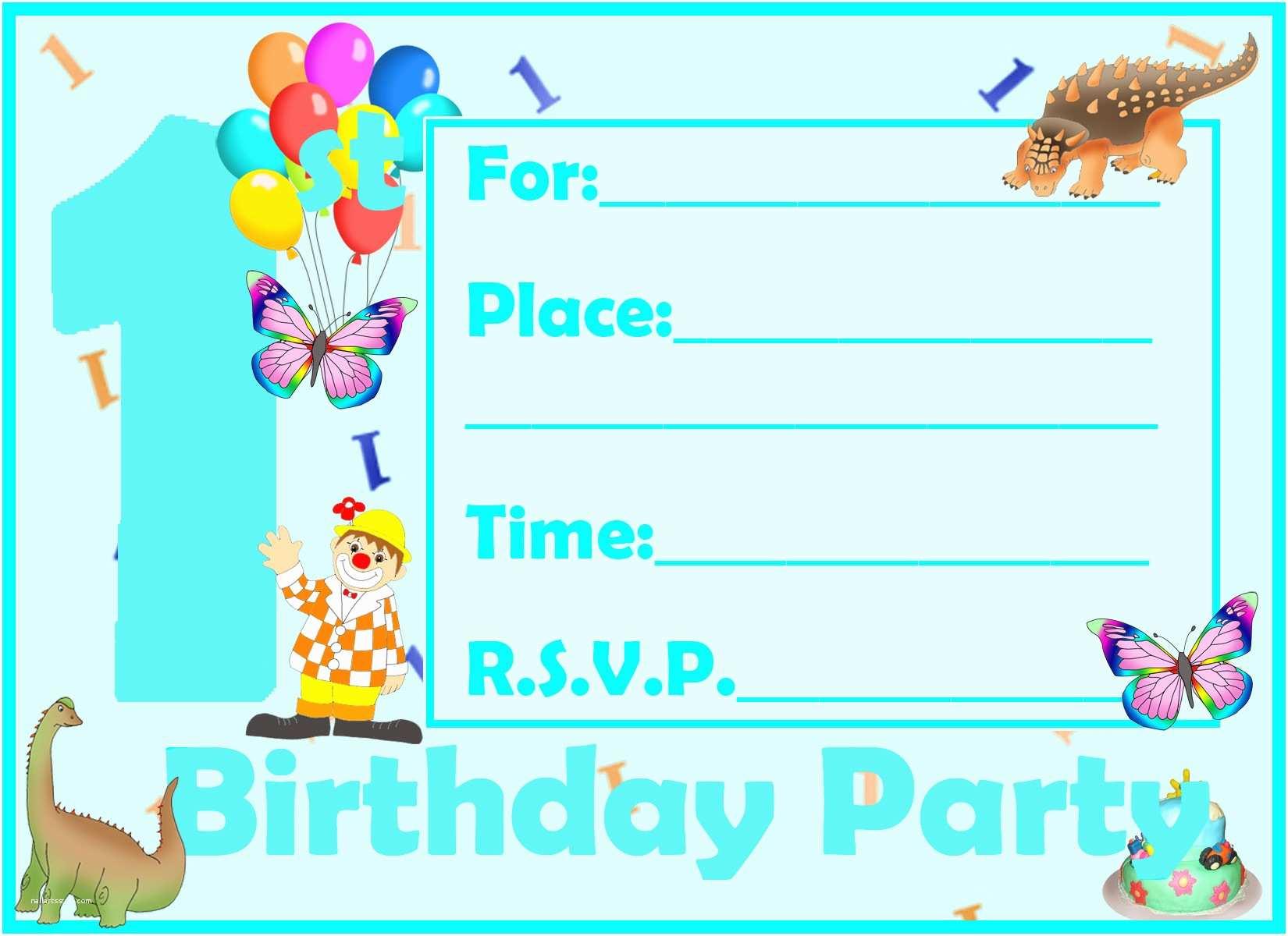 Boys Party Invitations 1st Birthday Party Ideas