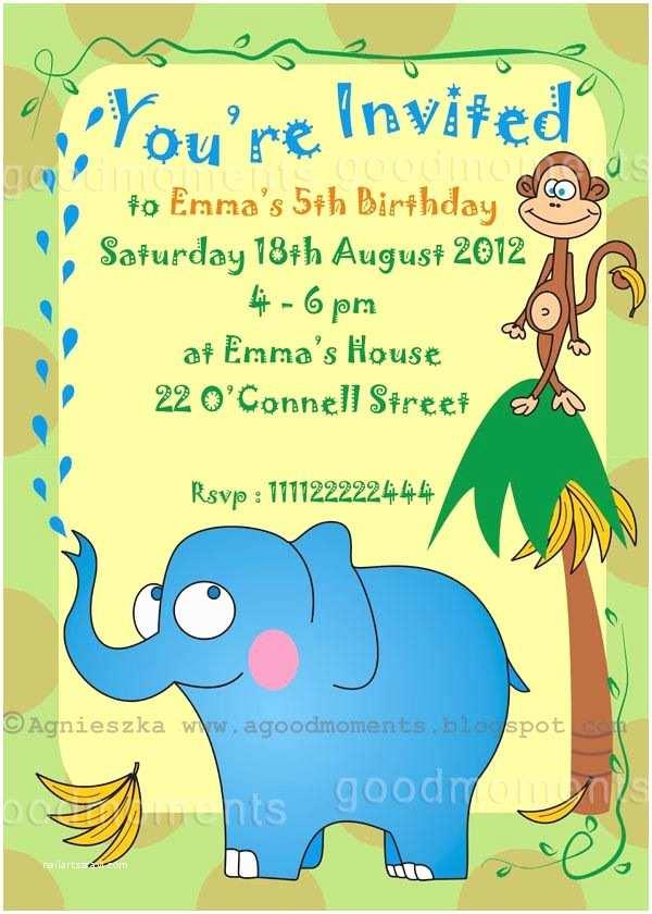 Boys Party Invitations Birthday Party Invitations