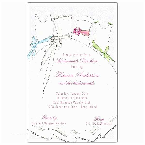 Bridal Party Invitations Bridal Party Bridesmaids Luncheon Invitations