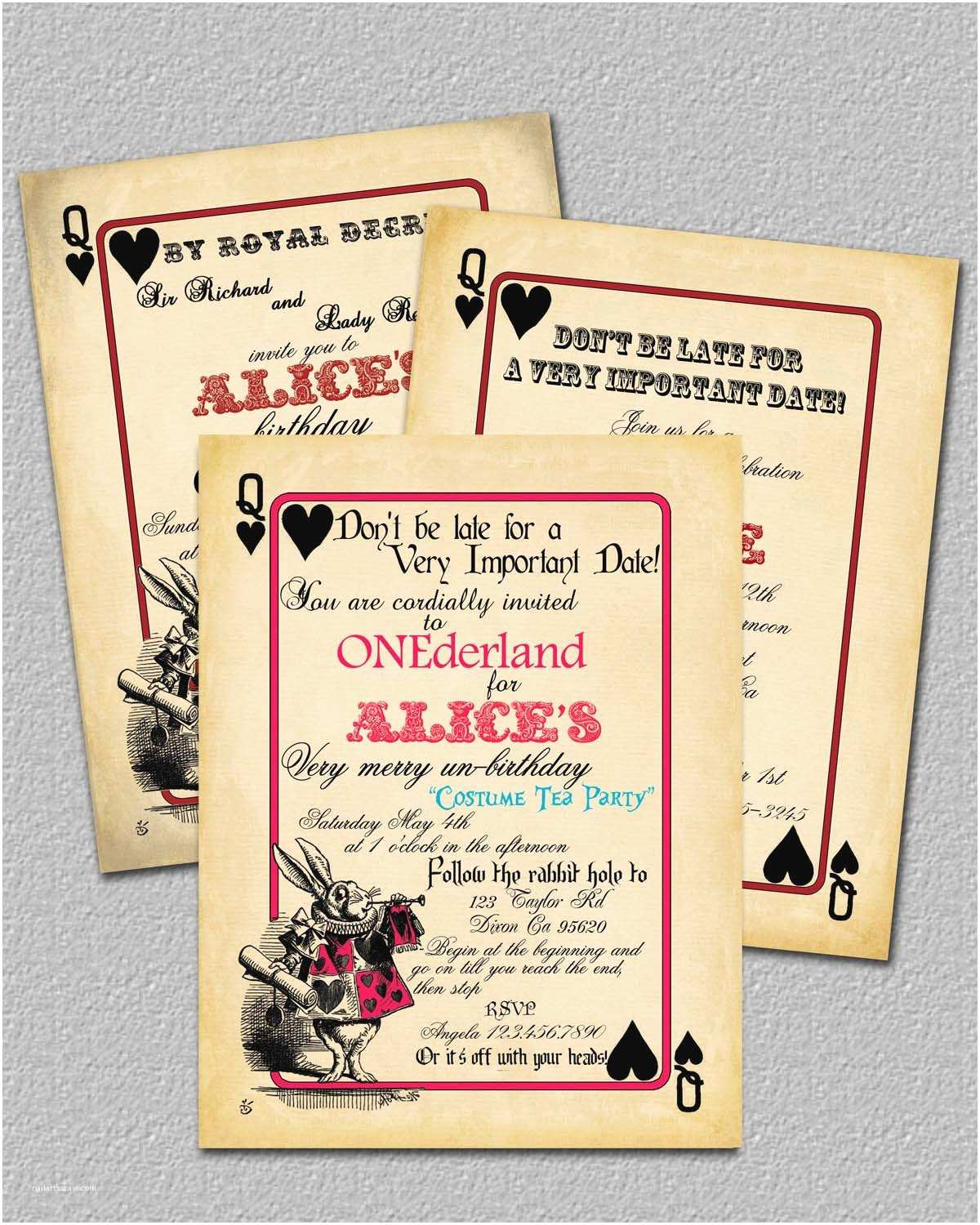 Bridal Party Invitations Bridal Shower Invitations Free Alice In Wonderland Bridal