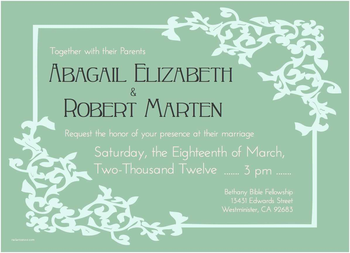 Bridal Party Invitations Post Wedding Reception Invitation Wording