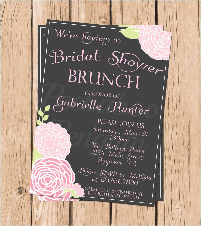 Bridal Shower Brunch Invitations Bridal Shower Invitations Bridal Brunch Shower