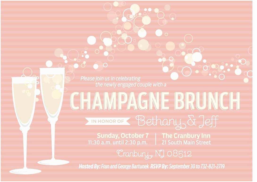 Bridal Shower Brunch Invitations Champagne Brunch Invitations 3 Different Options