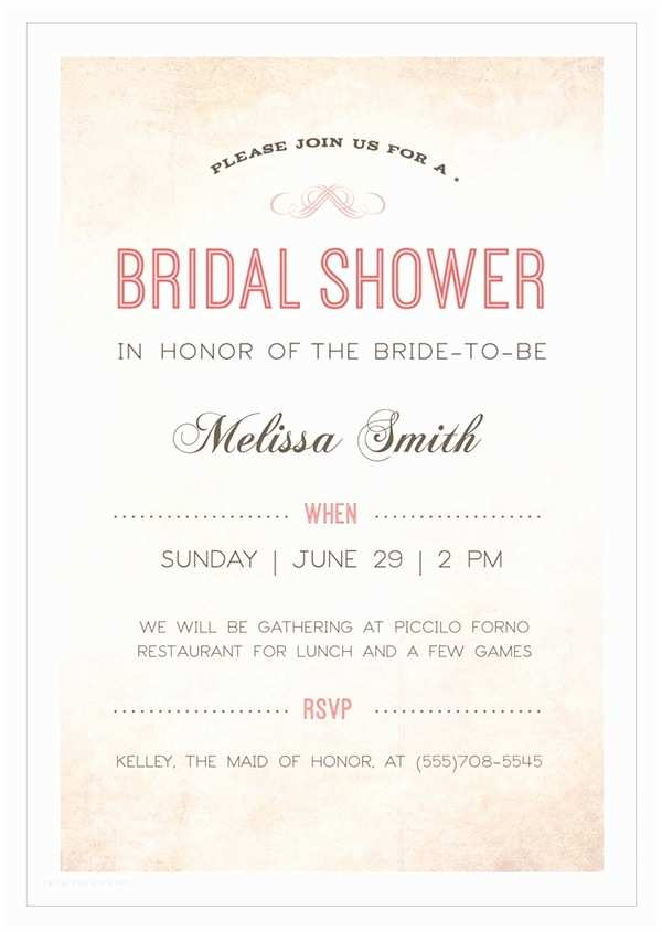 Bridal Shower Invitation Etiquette Bridal Shower Invite Etiquette Template Resume Builder