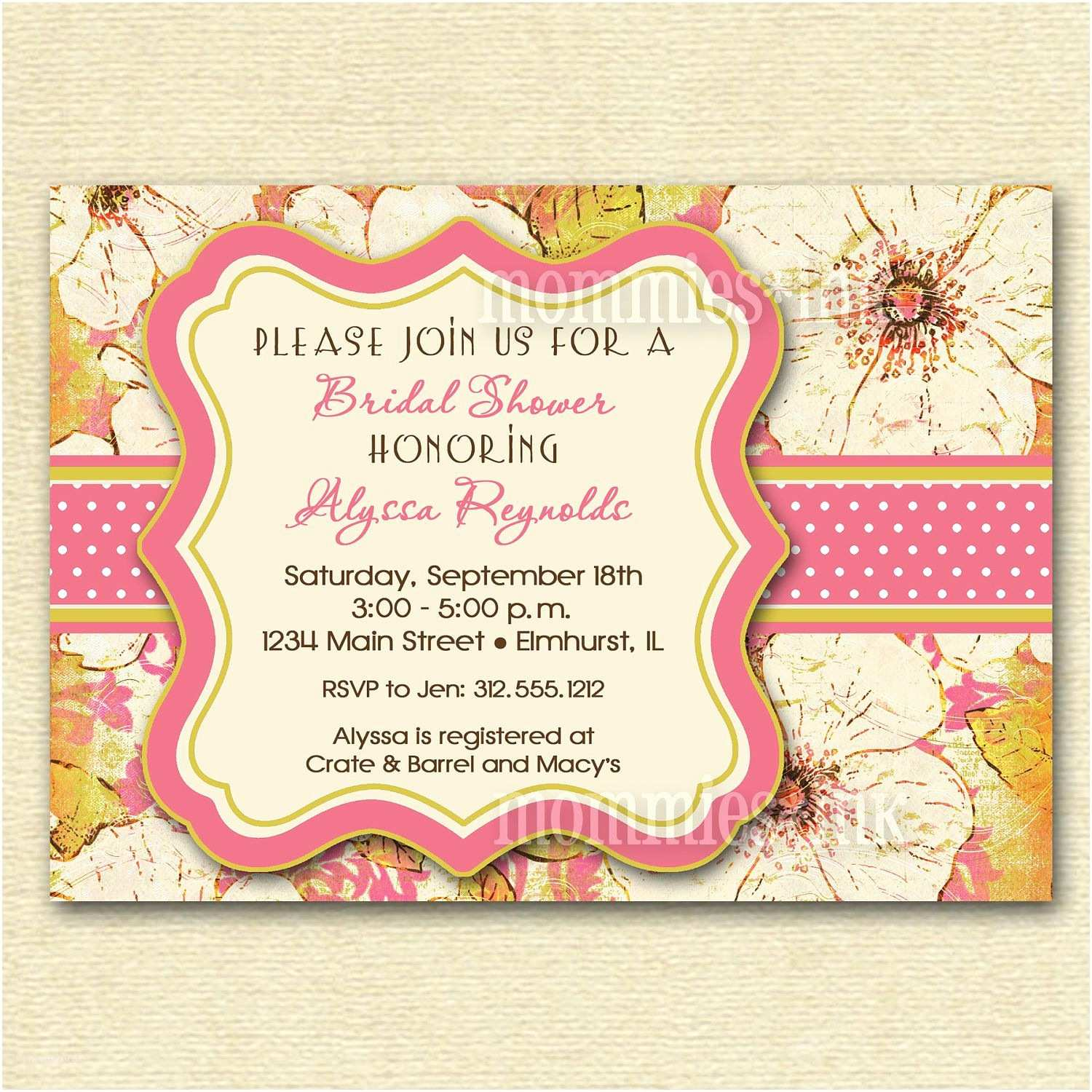 Bridal Shower Invitation Etiquette event Invitation Holiday Invitation Cards Card