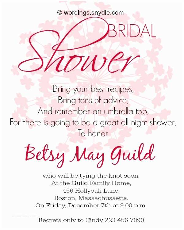Bridal Shower Invitation Etiquette Wedding Invitation Templates and Wording