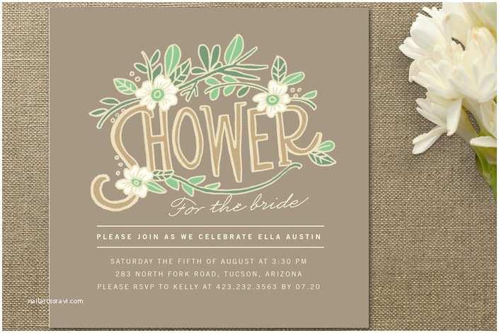 Bridal Shower Invitation Ideas Floral Bridal Shower Invitations Rustic Wedding Chic