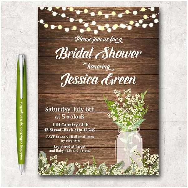 Bridal Shower Invitation Templates 14 Printable Bridal Shower Invitations Examples