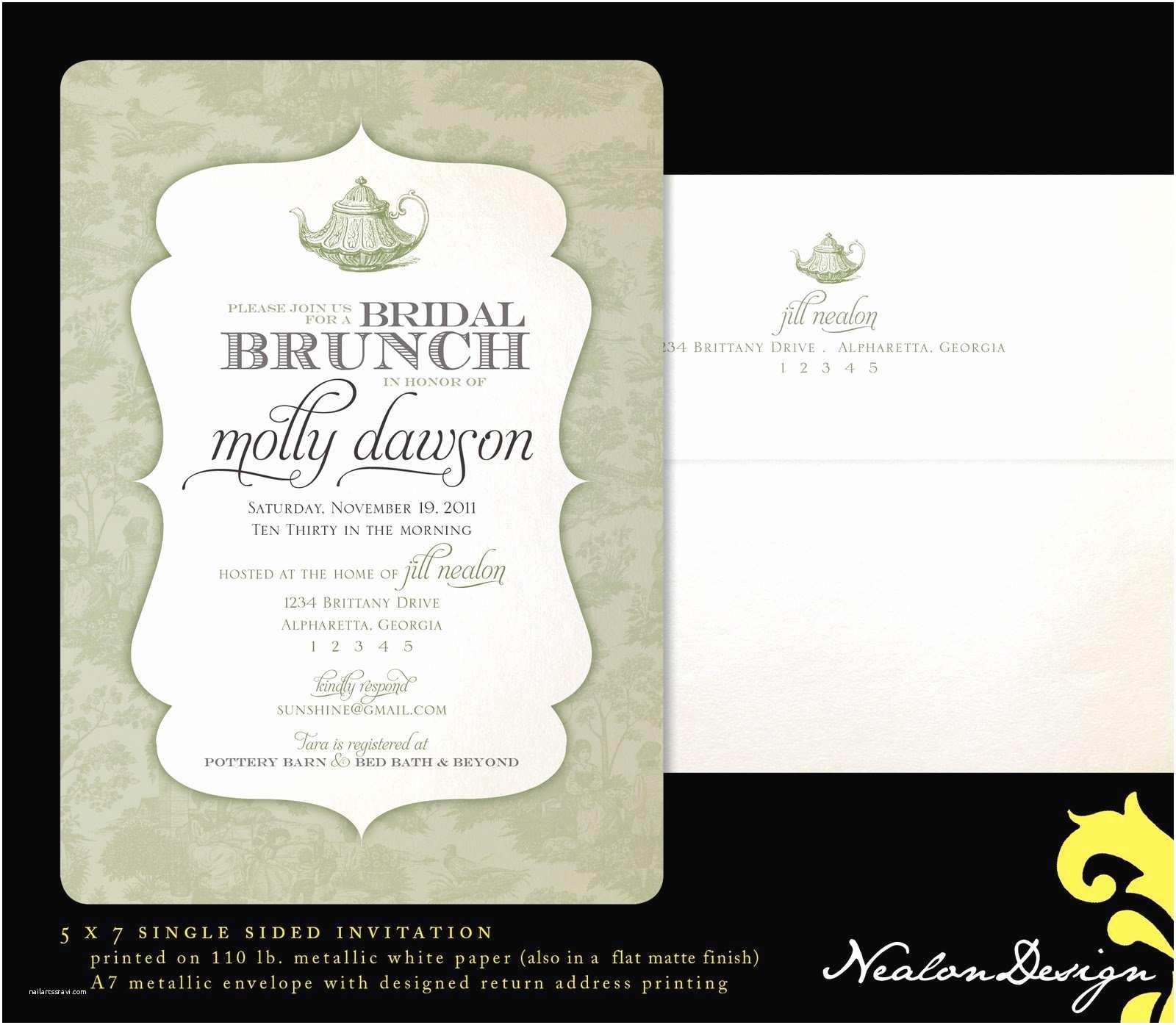 Bridal Shower Invitation Wording Invitation Wording Brunch Gallery Invitation Sample and