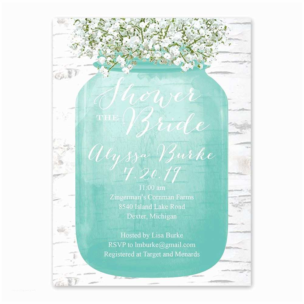 Bridal Shower Invitations Babys Breath Bridal Shower Invitation