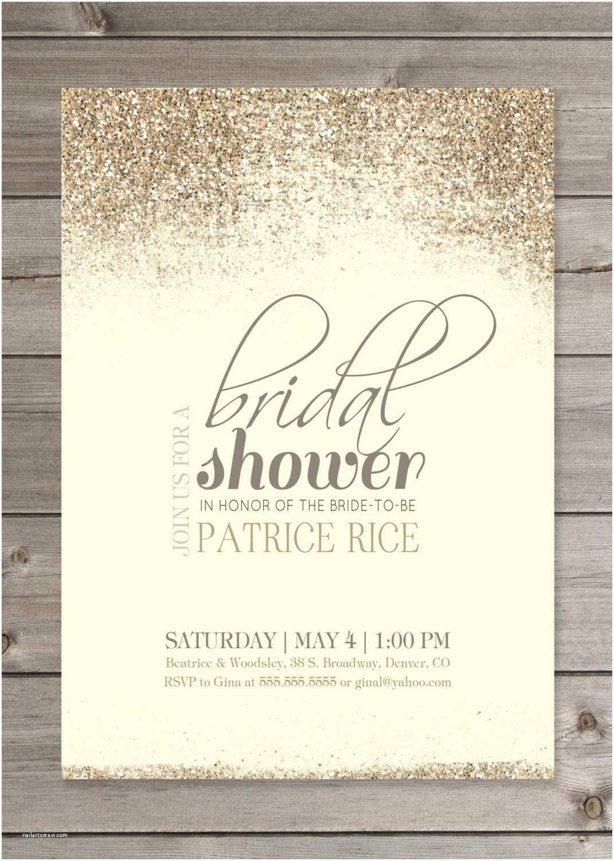 "Bridal Shower Invitations Bridal Shower Glitter Invitation 5x7"" Printable Digital"