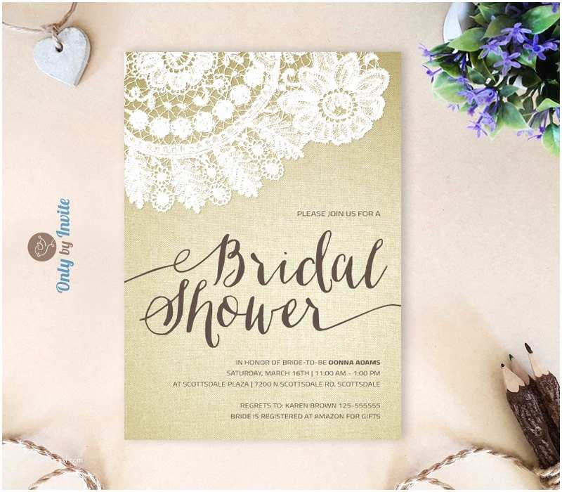 Bridal Shower Invitations Cheap Printed Bridal Shower Invitation Cheap Rustic by Lybyinvite