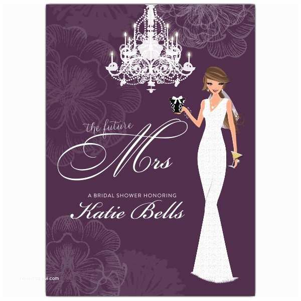 Bridal Shower Invitations Love and Lace Brunette Bridal Shower Invitations