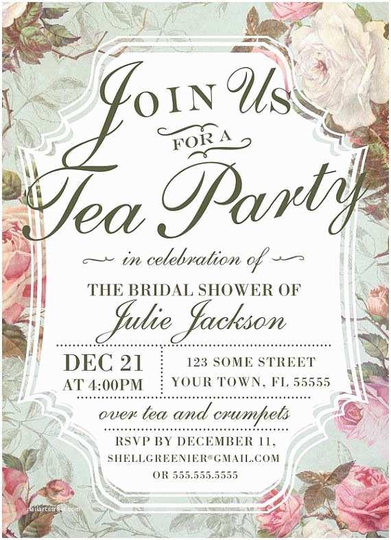 Bridal Shower Tea Party Invitations 1000 Ideas About Invitation Templates On Pinterest