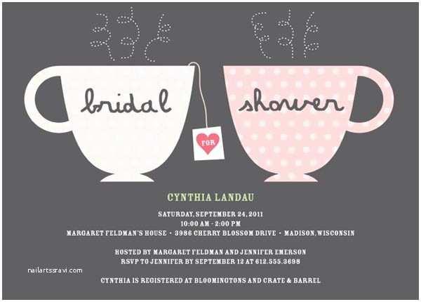 Bridal Shower Tea Party Invitations Bridal Shower Invitations