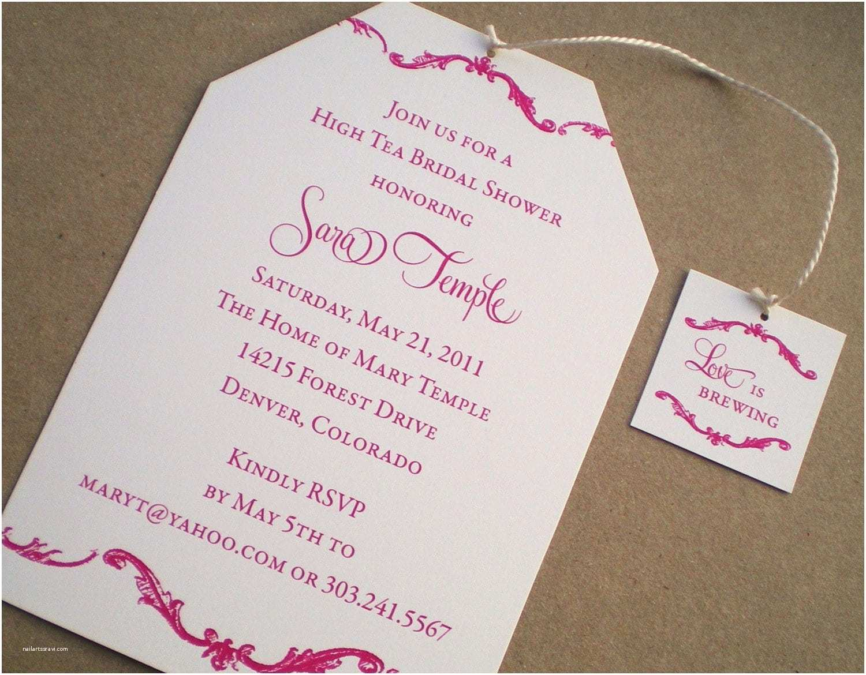 Bridal Shower Tea Party Invitations Bridal Shower Invitations Tea Party Mickey