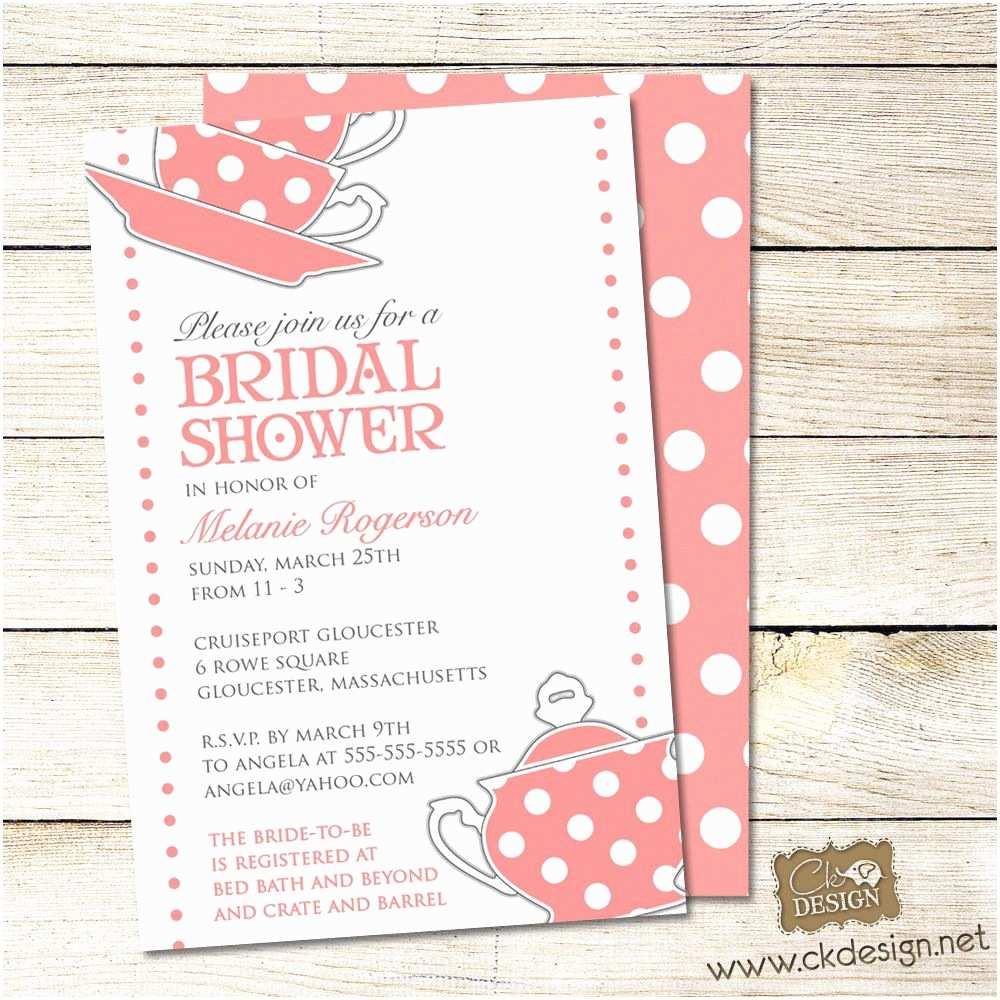 Bridal Shower Tea Party Invitations Bridal Shower Tea Party Invitation Wording Mickey