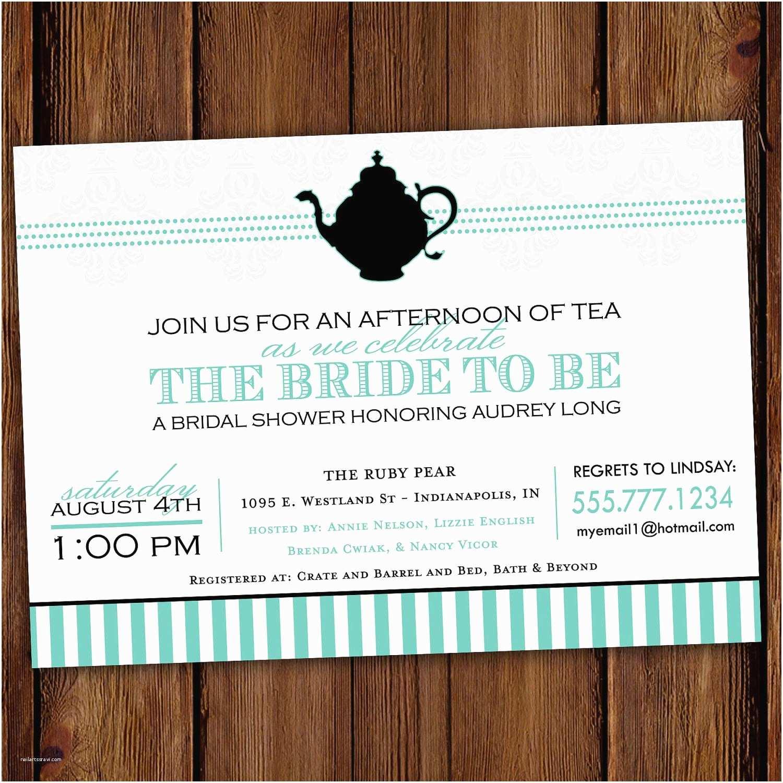 Shower Tea Party Invitations  Shower Tea Party Invitations Printable