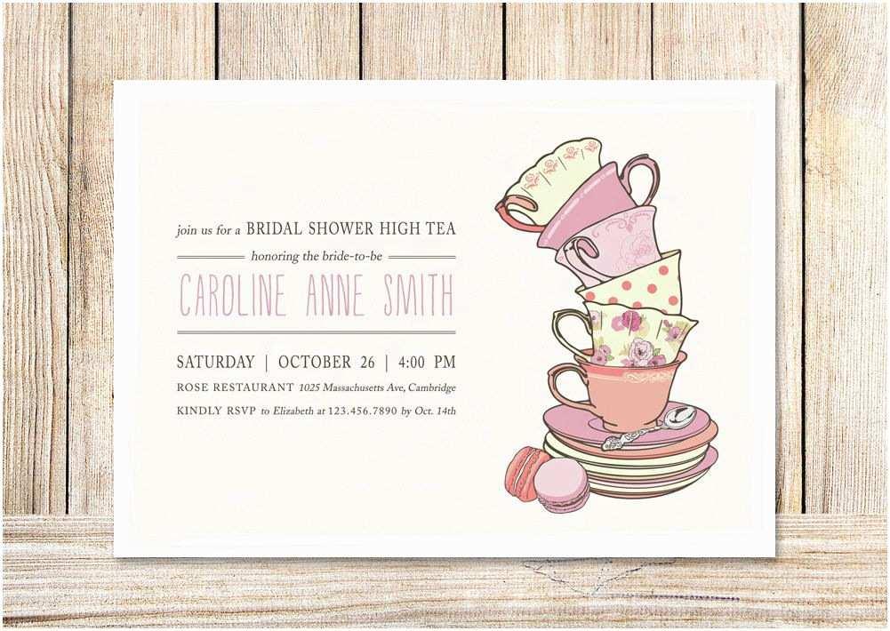 Bridal Shower Tea Party Invitations Bridal Shower Tea Party Invitations Template 4rh78nah