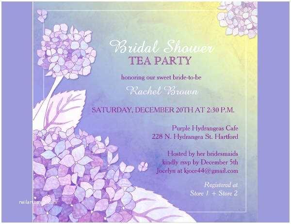 Bridal Shower Tea Party Invitations Free Party Invitation
