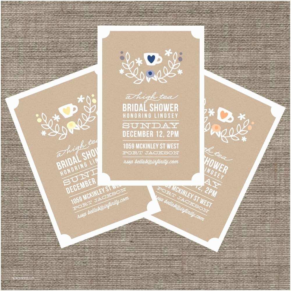 Bridal Shower Tea Party Invitations Item Details