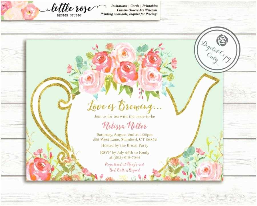 Bridal Shower  Party Invitations Love Is Brewing Bridal Shower Invitation Garden