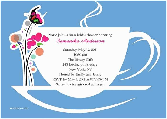 Bridal Shower Tea Party Invitations Printable Bridal Tea Shower Invitations Ewbs037  Low