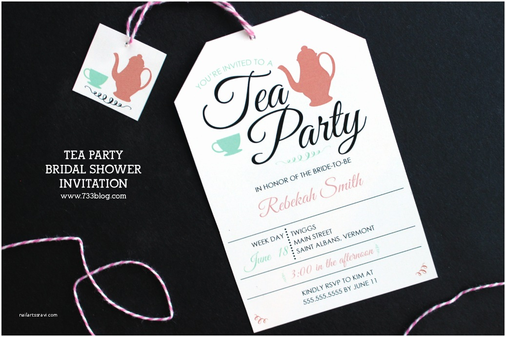 Bridal Shower Tea Party Invitations Tea Party Bridal Shower Invitation Inspiration Made Simple