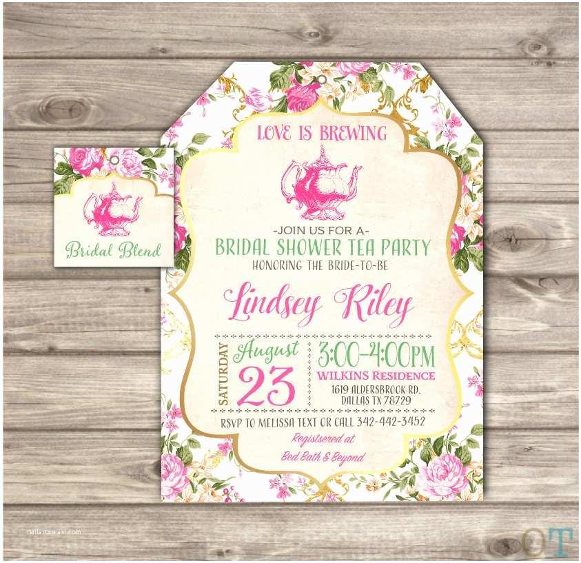 Bridal Shower Tea Party Invitations Tea Party Bridal Shower Invitations –