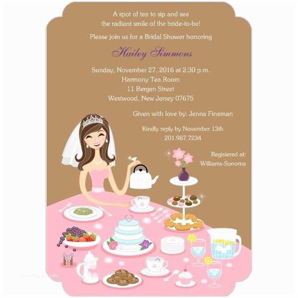 Bridal Shower Tea Party Invitations Tea Party Bridal Shower Invitations