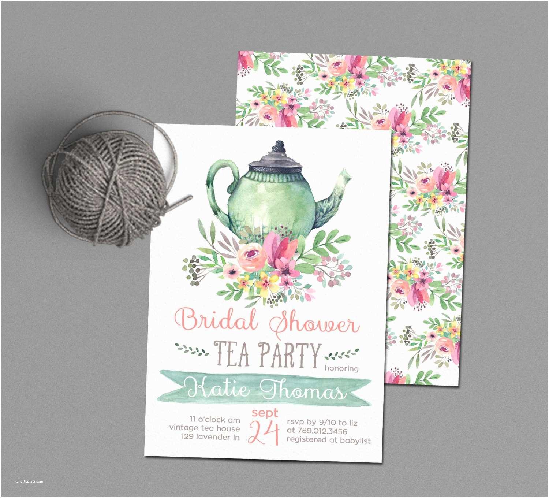 Bridal Shower Tea Party Invitations Tea Party Bridal Shower Invitations Wedding Shower Invite