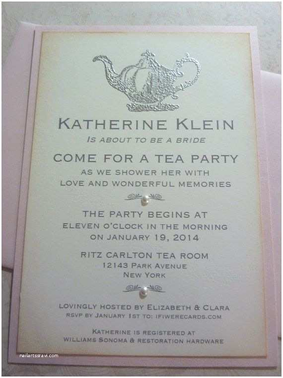 Bridal Shower Tea Party Invitations Tea Party Invitation Bridal Shower Vintage Inspired 10