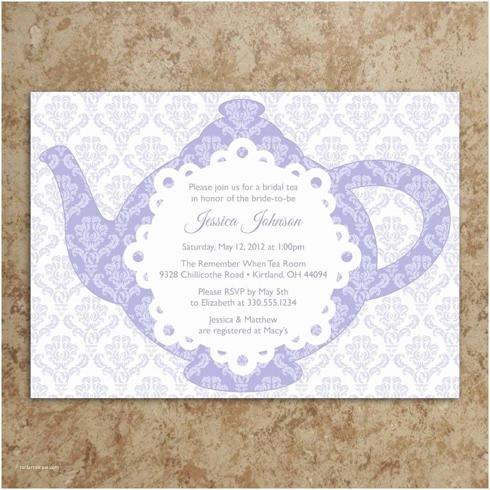 Bridal  Tea Party Invitations Tea Party Invitation Tea Party Invite Baby