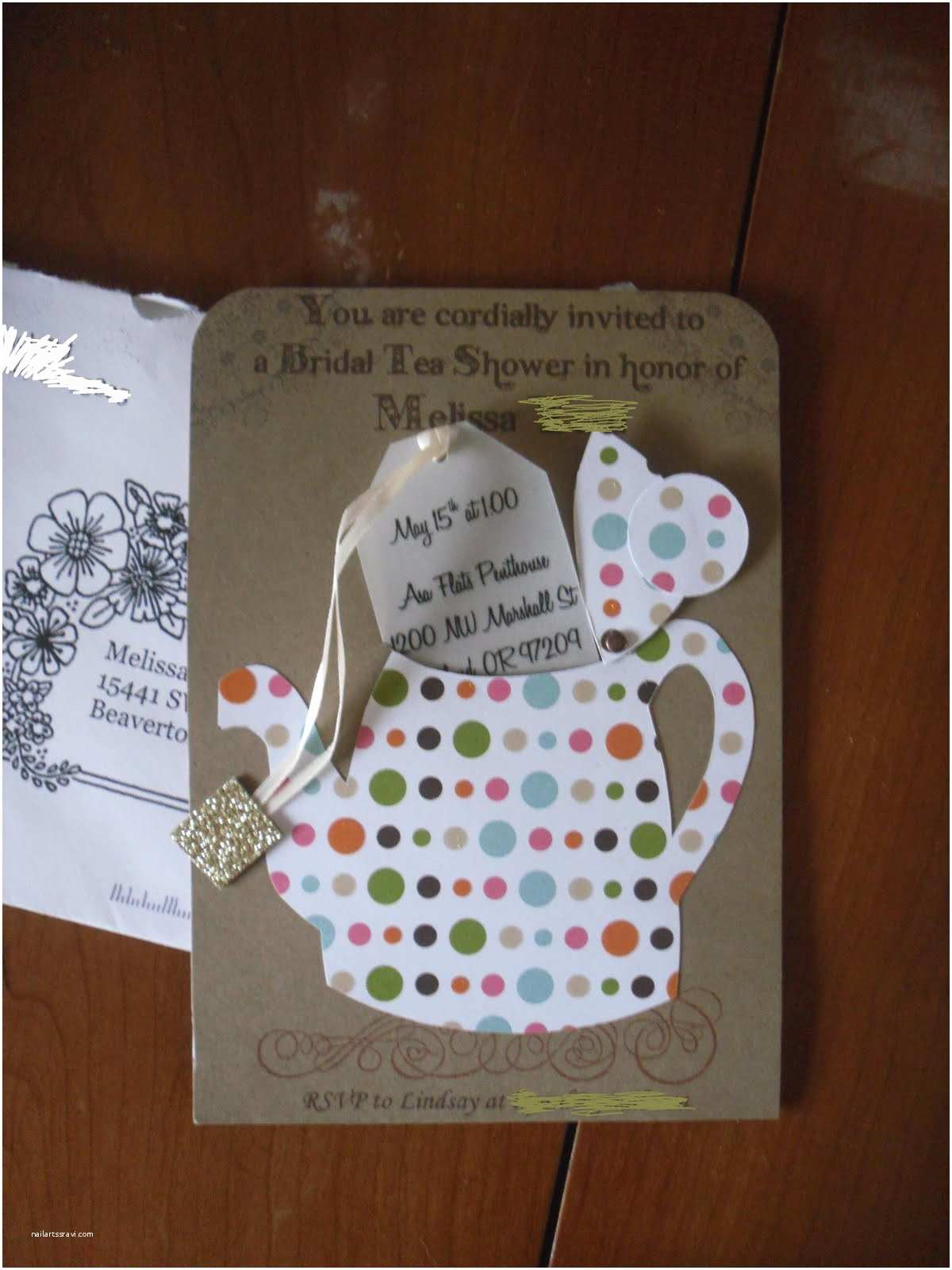 Bridal Shower Tea Party Invitations the tortoise A Tea Party